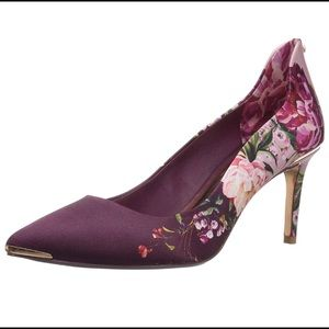 Ted Baker floral heel. Worn once. Original box.